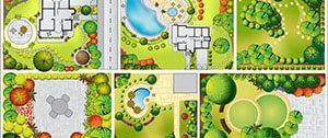 Tekening van tuin ontwerp